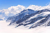 Aletsch alps glacier Switzerland — Foto Stock