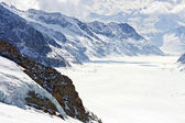 Great Aletsch Glacier Switzerland — Stockfoto
