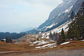 Landscape of Pilatus mountain in Lucern Switzerland — Stock Photo