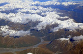 Landscape of southern alpine alps from top view — Stock Photo
