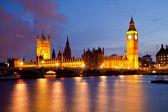 Big ben och westminsterpalatset — Stockfoto
