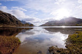 Loch Shiel Lake at Glenn Finnan Highlands Scotland — Stock Photo
