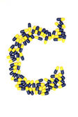 The letter C alphabet made of medical capsules — Stock Photo