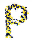 The letter P alphabet made of medical capsules — Stock Photo