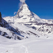 Stock Photo: Matterhorn peak Alp Switzerland