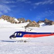 Helicopter landing on top of Franz Josef Glacier in New Zealand. — Stock Photo