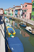 Main canal in Burano Venice Italy — Stock Photo