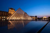Louvre at dusk — Stock Photo