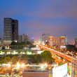 Bangkok Highway and building at downtown - Stock Photo