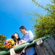 Стоковое фото: Romantic couples seeing each other