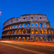 Colosseum rome italy night — Stock Photo