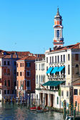 Clock Tower in Grand canal Venice, Italy — Stok fotoğraf