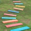 Colorful Wooden Walkway — Stock Photo
