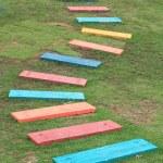 Colorful Wooden Walkway — Stock Photo #11605275