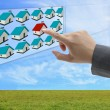 Finding online property — Stockfoto