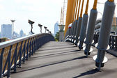 Pathway on mega sling bridge rama 8 in Bangkok — Stock Photo