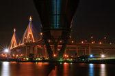 Mega Sling Bridge at Bangkok harbor — Stock Photo