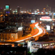 Stock Photo: Bangkok Highway at dusk