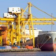 Stock Photo: Cargo industrial ship at Port