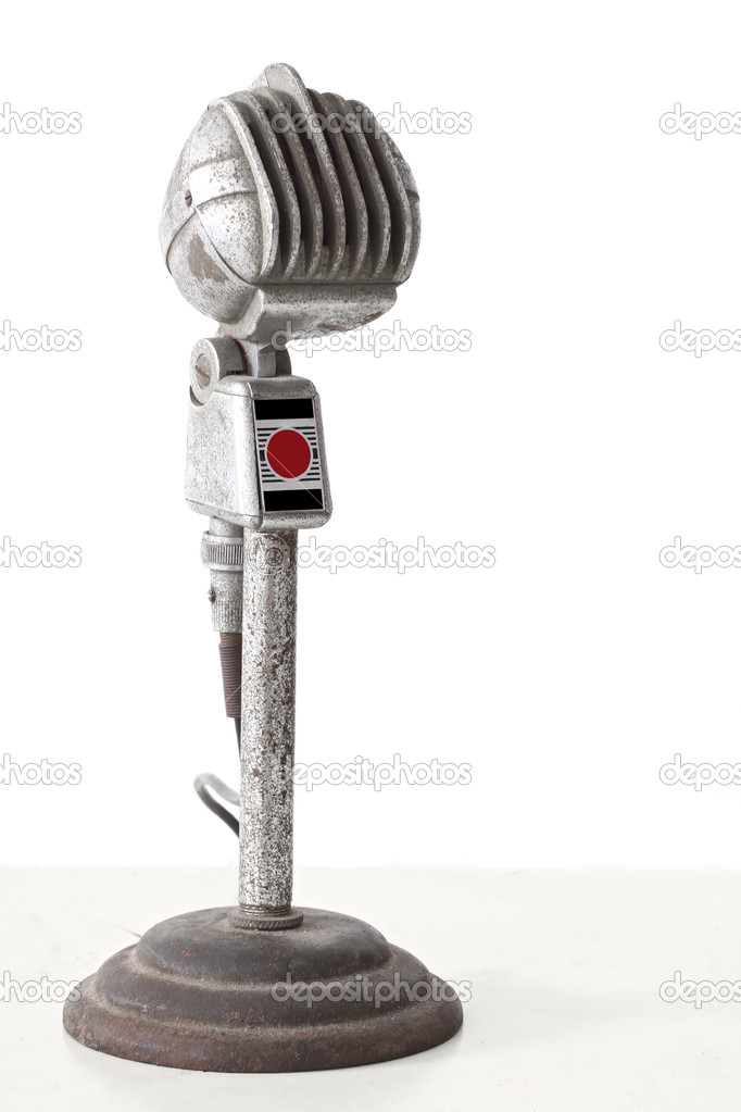 Vintage microphone on white background — Stock Photo #11829942
