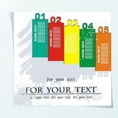 Vintage design - retro postcard with place for text - Vector illustration — Stockvektor