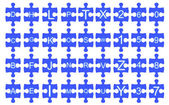 Jigsaw of Alphabet — Stock Photo