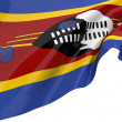 Flags of Swaziland - Stock Photo