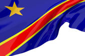 Flags of DRC — Stock Photo