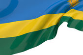 Flags of Rwanda — Stock Photo