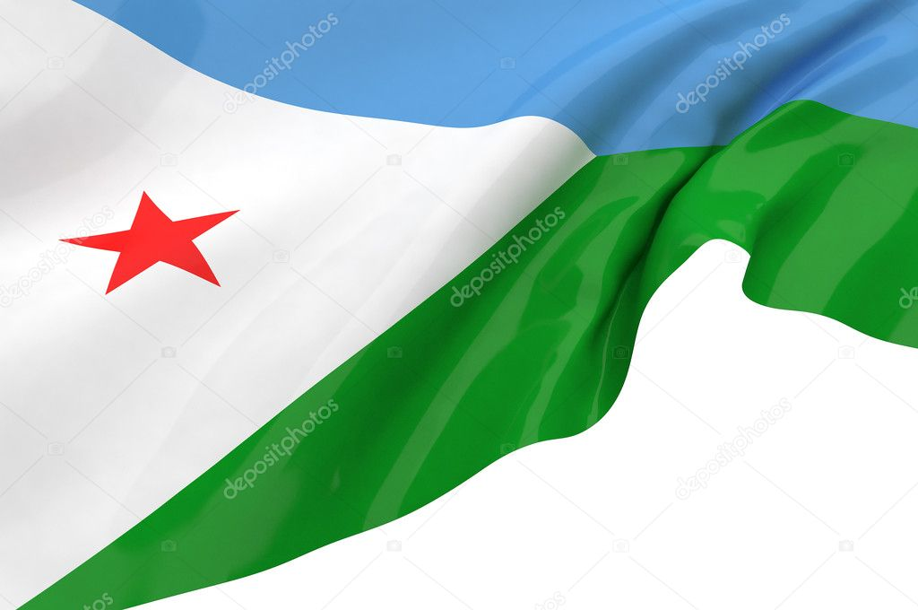 Flags of Djibouti — Stock Photo #12112269