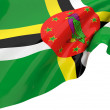 Vector Flags of Dominica — Stock Photo