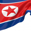 Illustration flags of Korea-North — Foto de Stock