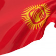 Illustration flags of Kyrgyzstan — Stock Photo
