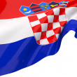Vector Flags of Croatia - Stock Photo