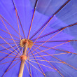 Blue sun umbrella — Stock Photo