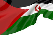Flags of Western Sahara — Stock Photo
