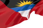 Vector Flags of Antigua and Barbuda — Stock Photo