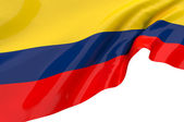 Vector Flags of Colombia — Stock Photo