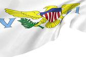 Illustration flag of Virgin Islands — Stock Photo