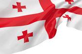 Illustration flags of Georgia — Stock Photo
