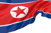 Illustration flags of Korea-North — Stock Photo