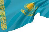 Illustration flags of Kazakhstan — Stock Photo