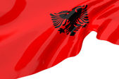 Vector Flags of Albania — Stock Photo