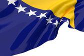 Vector Flags of Bosnia — Stock Photo