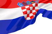 Vektor flaggor i Kroatien — Stockfoto