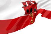 Vector Flags of Gibraltar — Stock Photo