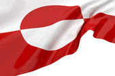 Vector Flags of Greenland — Stock Photo