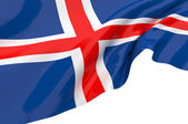 Vector Flags of Iceland — Stock Photo