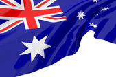 Illustration flags of Australia — Stock Photo