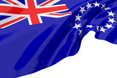 Illustration flags of Cook Islands — Stockfoto